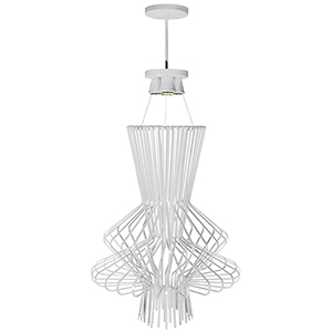 Campana White Semi-Gloss 25-Inch Four-Light Pendant