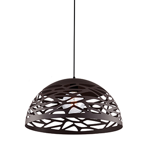 Coral Matte Black 16-Inch One-Light Pendant