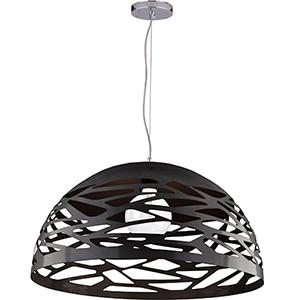 Coral Matte Black 20-Inch One-Light Pendant