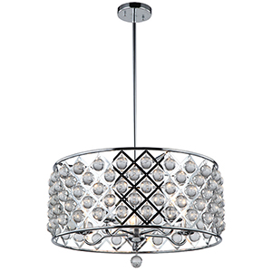 Cresfield Polished Chrome 22-Inch Five-Light Pendant