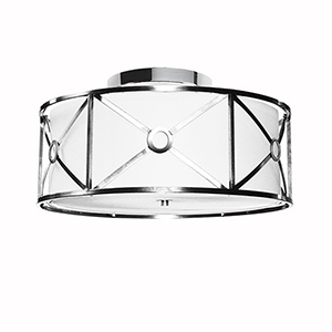 Cruz Polished Chrome 17-Inch Three-Light Flush Mount