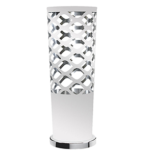 Cutouts White and Silver 8-Inch One-Light Table Lamp