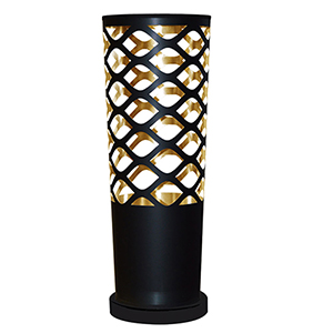 Cutouts Black and Gold 8-Inch One-Light Table Lamp