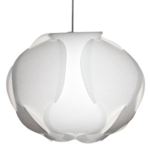 Globus White Three-Light  22-Inch Pendant