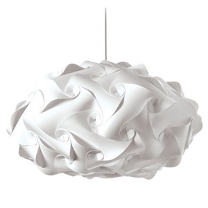 Globus White Three-Light Squash Pendant
