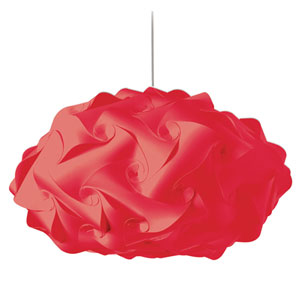 Globus Red Three-Light Squash Pendant