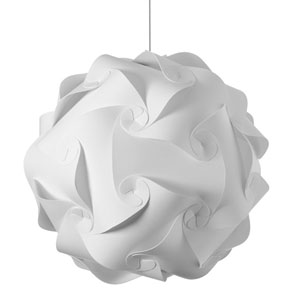 Globus White Three-Light Large Pendant