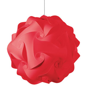 Globus Red Three-Light Large Pendant