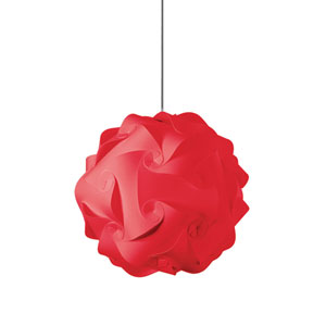 Globus Red One-Light Medium Pendant