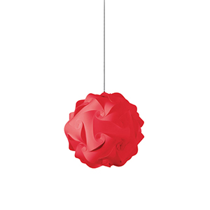 Globus Red Fluorescent One Light Mini Pendant