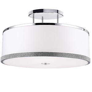 Devonshire White 30-Inch Five-Light Semi-Flush Mount