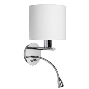 Polished Chrome Wall Sconce with LED Gooseneck Lamp