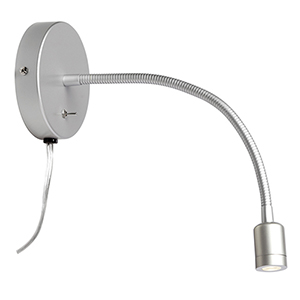LED Silver 15-Inch LED Wall Lamp