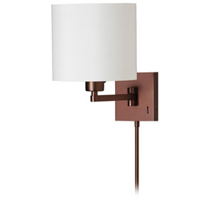 Oil Brushed Bronze One-Light 16-Inch Swing Arm Wall Sconce