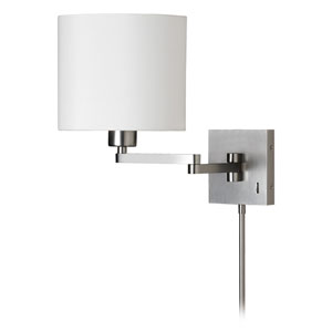 Satin Chrome One-Light 11-Inch Swing Arm Wall Sconce