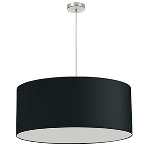 Black 28-Inch One-Light Pendant