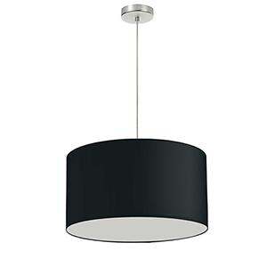 Black 19-Inch One-Light Pendant