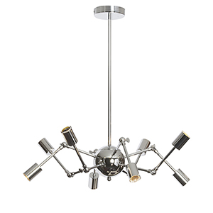 Dresden Polished Chrome 28-Inch Eight-Light Chandelier