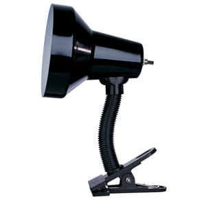 Utility Gloss Black Clip-On Lamp