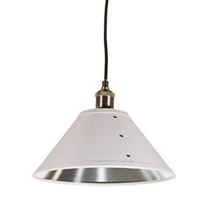 Fayette White and Silver 12-Inch One-Light Pendant