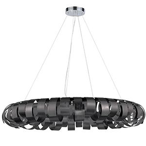 Harmony Black 28-Inch Eight-Light Pendant
