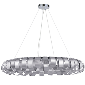 Harmony Silver 28-Inch Eight-Light Pendant