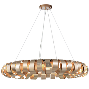 Harmony Champagne 28-Inch Eight-Light Pendant