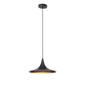 Helsinki Matte Black 14-Inch One-Light Pendant