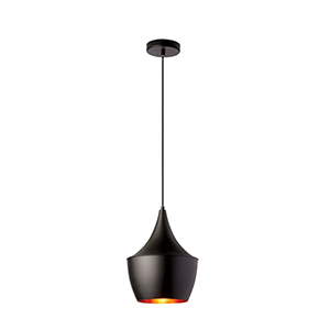 Helsinki Matte Black 9-Inch One-Light Mini Pendant