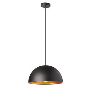Helsinki Matte Black 16-Inch One-Light Pendant