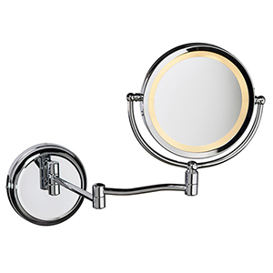 Magnifier Mirrors Polished Chrome 3-Inch LED Specialty Lamp