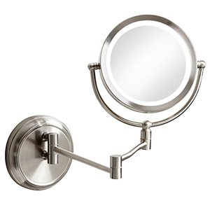 Magnifier Mirrors Satin Chrome 3-Inch LED Specialty Lamp