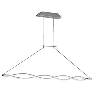 Lisse Silver 47-Inch LED Pendant