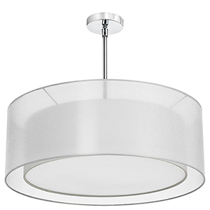 Melissa Satin Chrome 30-Inch Four-Light Pendant