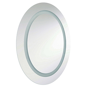 Silver 28-Inch LED Vanity Mirror
