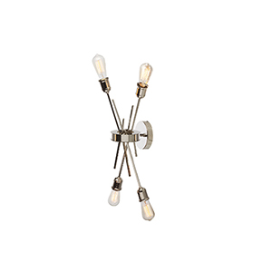 Nebraska Burnished Chrome 11-Inch Four-Light Sconce