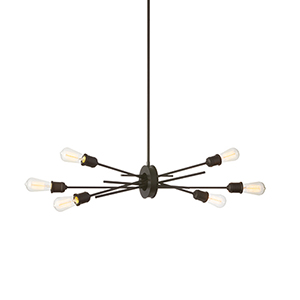 Nebraska Espresso 16-Inch Six-Light Pendant