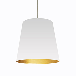 Oversized Drum White and Gold 26-Inch One-Light Pendant
