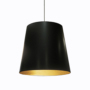 Oversized Drum Black and Gold 26-Inch One-Light Pendant