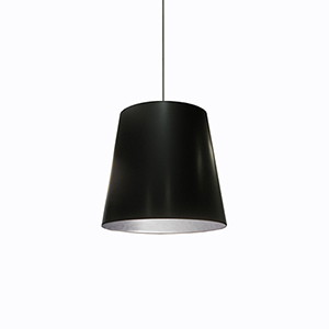 Oversized Drum Black and Silver 20-Inch One-Light Pendant