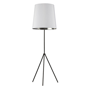 Oversized Drum Matte Black 22-Inch One-Light Floor Lamp