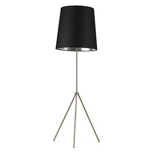 Oversized Drum Satin Chrome 22-Inch One-Light Floor Lamp