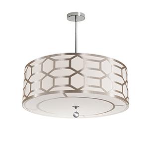 Pembroke Winter Gold 24-Inch Four-Light Pendant