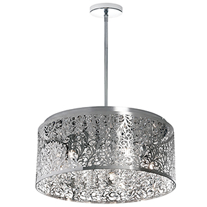 Sienna Polished Chrome 20-Inch Eight-Light Pendant