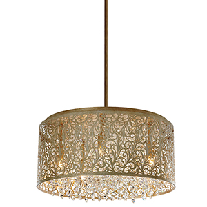 Sienna Palladium Gold 20-Inch Eight-Light Pendant