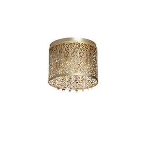 Sienna Palladium Gold 10-Inch Four-Light Flush Mount