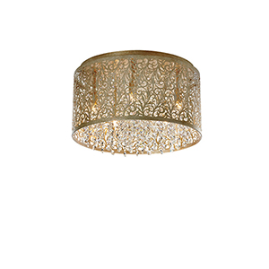 Sienna Palladium Gold 14-Inch Five-Light Flush Mount