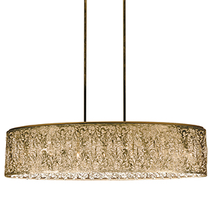 Sienna Palladium Gold 36-Inch Seven-Light Pendant