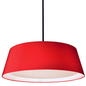 LED Red 24-Inch LED Pendant