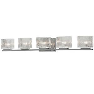 Polished Chrome 35-Inch Five-Light Vanity